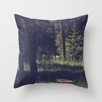 Sitting Elsewhere Throw Pillow
