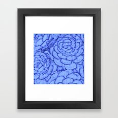 Blue pattern. Succulents Framed Art Print