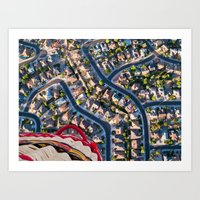 Blissful Suburbia  Art Print