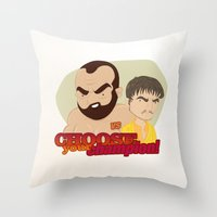 Trial by combat Throw Pillow