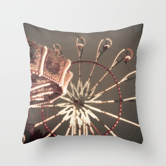 Carnival Lights Throw Pillow