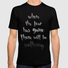Litany Against Fear SMALL Black Mens Fitted Tee