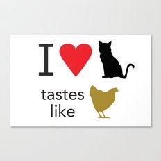I Heart Cats Canvas Print