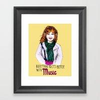 Everything Get's Better … Framed Art Print