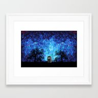 Lonely Tardis Doctor Who… Framed Art Print