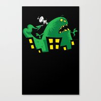 Ouch! Canvas Print