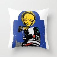 Lil' Blue Throw Pillow