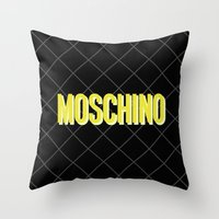 MOSCHINO Quilted Bag Throw Pillow