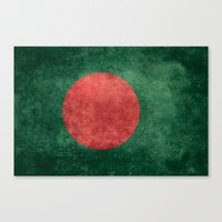 Flag of Bangladesh - Vintage Version Canvas Print