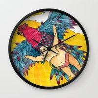 Lazy Tarzan - Flying Wall Clock
