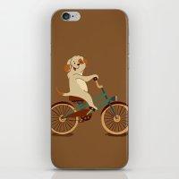 Puppy on the bike iPhone & iPod Skin