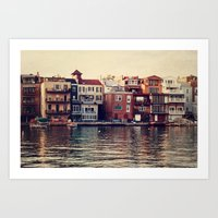 The Lake. Art Print
