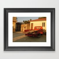 Il Rosso Al Crepuscolo Framed Art Print