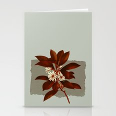Branch And Flowers On Gr… Stationery Cards
