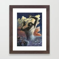 Suddenly The Beast Arose… Framed Art Print