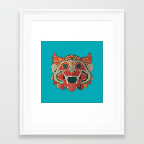Paper Mask Framed Art Print