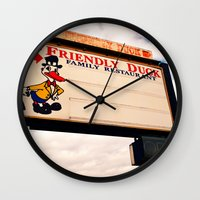 The Friendly Duck Restaurant Wall Clock