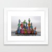 Villa Vase Framed Art Print