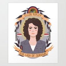 Ellen Ripley Art Print