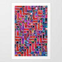Pixel Repeat No.2 Art Print