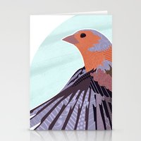 Chaffinch In Flight Stationery Cards