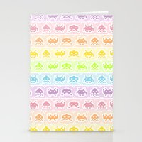 Pixel Invaders Stationery Cards