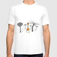 Gogiraffe Mens Fitted Tee White SMALL