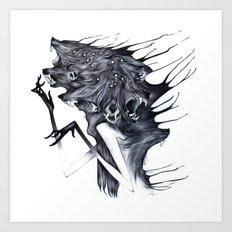 A Forest's Darkness Art Print
