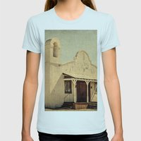 The Sanctuary Adventist Church a.k.a The Kill Bill Church Womens Fitted Tee Light Blue SMALL
