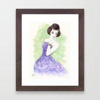 'Nadia' Watercolor Fashi… Framed Art Print