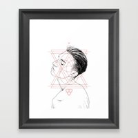 Face Facts I Framed Art Print