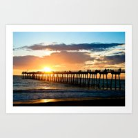 Hermosa Pier (2) Art Print