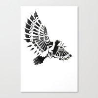 Raven Crow Shaman Tribal… Canvas Print
