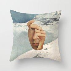 Muh Anne Inn Tha Mount Tan Throw Pillow