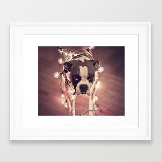 Will work for treats Framed Art Print