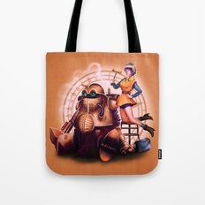 Lucca and Robo Tote Bag