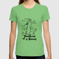 Anatomy of a Bunny Womens Fitted Tee Grass SMALL
