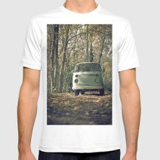 VwT2-n.8 SMALL White Mens Fitted Tee