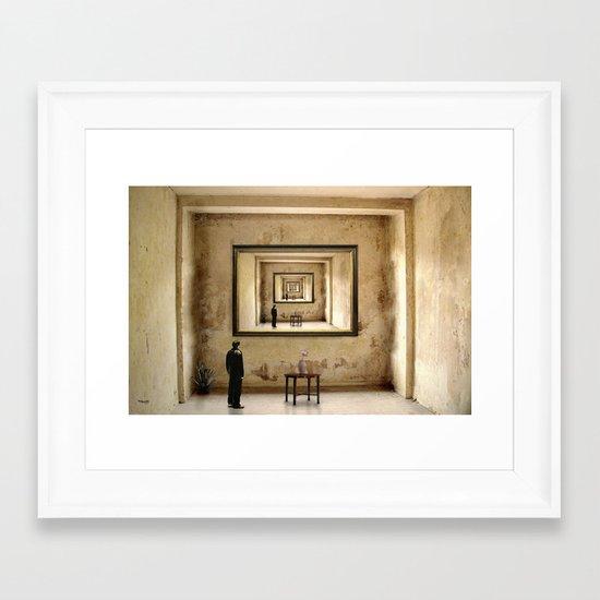 Der Blick zu mir ! Framed Art Print