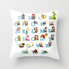ABC  medieval (english) Throw Pillow
