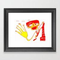 Give Me 5 Framed Art Print
