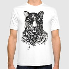 Tiger - Original Drawing  SMALL Mens Fitted Tee White
