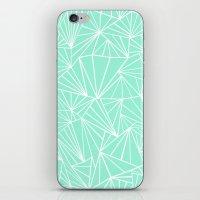 Ab Fan Mint iPhone & iPod Skin