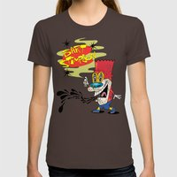 Bart Stimpson Womens Fitted Tee Brown SMALL