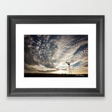 Sandhills Windmill @ Sunset Horizontal Framed Art Print