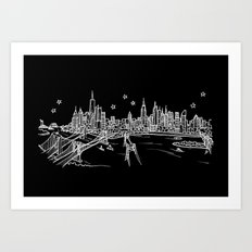 New York, New York City Skyline Art Print