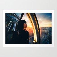 Paris Sunset Art Print