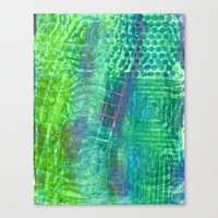 Textured Green And Pink Canvas Print