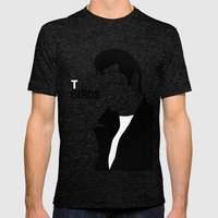 TBirds Mens Fitted Tee Tri-Black SMALL