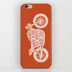 Four wheels transport the body, two wheels move the soul iPhone & iPod Skin
